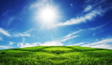 Sun fields nature HD wallpaper