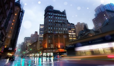 Hdr photography new york city cars cityscapes skyline HD wallpaper