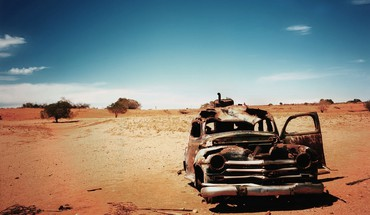 Cars deserts old wrecks HD wallpaper