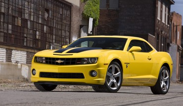 Camaro SS Chevrolet automobiliai yellow  HD wallpaper