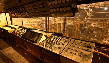 Cockpit control factories industrial plants HD wallpaper