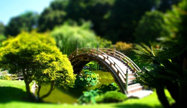 Ponts paysages TiltShift  HD wallpaper