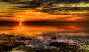 Magnificent sunset hdr HD wallpaper