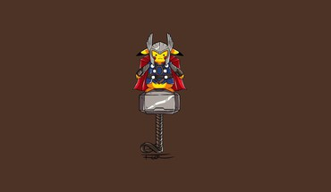 Pikachu thor artwork minimalistic HD wallpaper