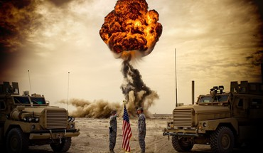 Us army explosions flags HD wallpaper