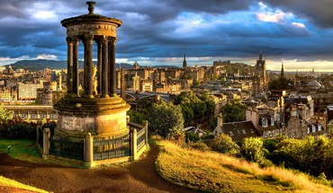 Edinburgh scotland cityscapes city skyline landscapes HD wallpaper