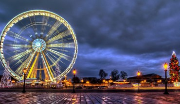 Ferris wheel at christmas HD wallpaper