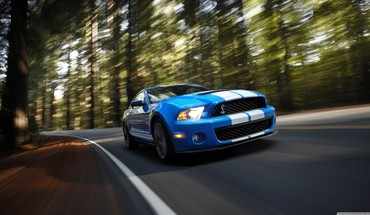 Ford mustang shelby gt500 blue HD wallpaper