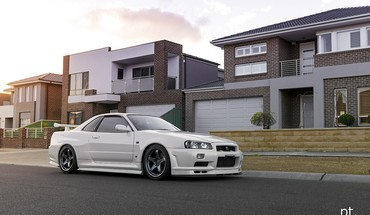 Japanese cars jdm r34 skyline HD wallpaper