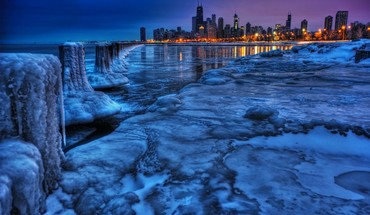 Chicago cityscapes city skyline frozen landscapes HD wallpaper