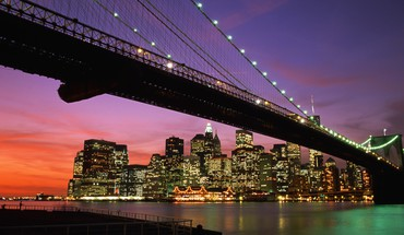 Brooklyn bridge manhattan new york city cityscapes HD wallpaper