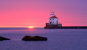 Wisconsin point lighthouse HD wallpaper