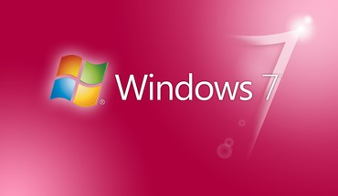 Pink windows 7 HD wallpaper
