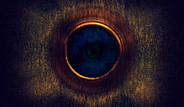 Blue circles colors eyes mysterious HD wallpaper