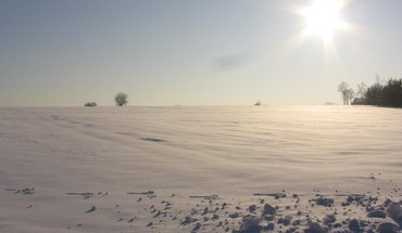 Sun fields frozen land landscapes HD wallpaper
