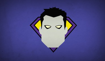 Minimalistic dc comics bizarro purple background villians blo0p HD wallpaper