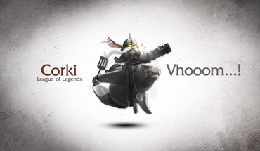 Corki league of legends video games HD wallpaper