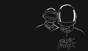 Music daft punk monochrome HD wallpaper