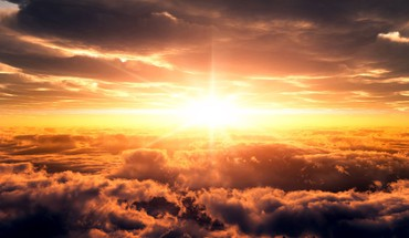 Heaven sun clouds landscapes skies HD wallpaper