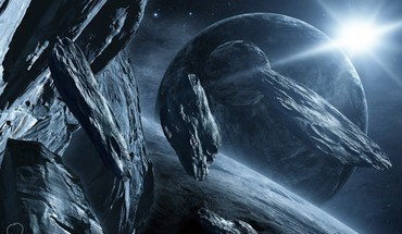 Planeten Fantasie Art Science-Fiction-Kunstwerk Asteroiden HD wallpaper