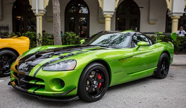 Dodge viper auto cars green sport HD wallpaper