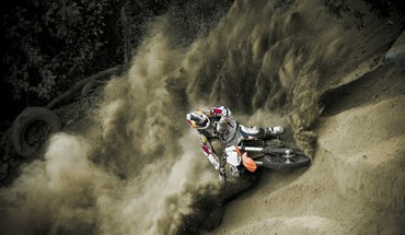 Ktm motocyclettes de motocross redbull saut  HD wallpaper