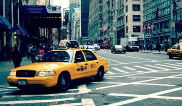 Straßen New York City Taxi  HD wallpaper
