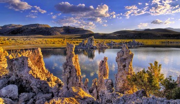 California mono lake lakes land landscapes HD wallpaper