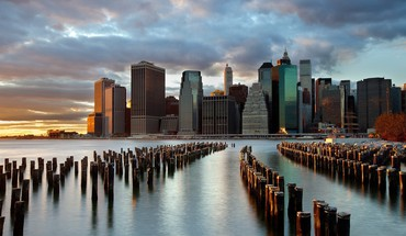 Brooklyn cities cityscapes city skyline skyscrapers HD wallpaper