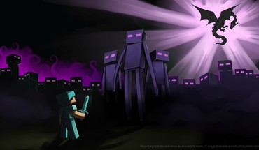 Enderman endermen minecraft steve artistic HD wallpaper