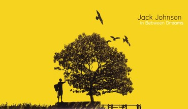 Jack johnson digital art music trees yellow HD wallpaper