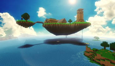 Minecraft block digital art fan home HD wallpaper
