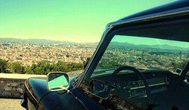 Cars cityscapes classic HD wallpaper