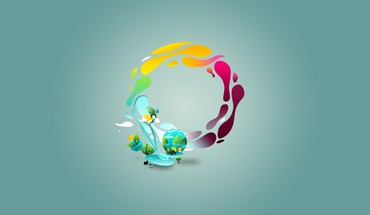Earth minimalistic nature vector art vectors HD wallpaper