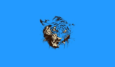 Abstract simple simplistic tigers HD wallpaper