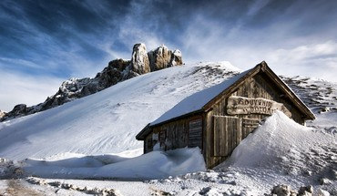 Chalets landscapes mountains nature snow HD wallpaper