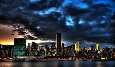 Cityscapes clouds lights skyscapes water HD wallpaper