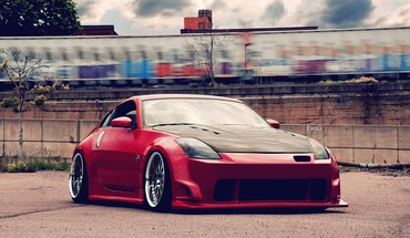 Cars nissan tuning red HD wallpaper