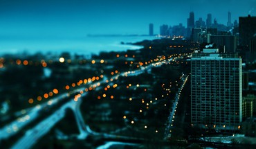 Chicago paysages urbains Lake Shore Drive bokeh gratte-ciel  HD wallpaper