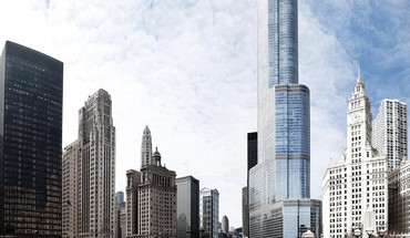 Chicago illinois trump tower cityscapes united HD wallpaper