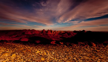 Deserts landscapes stones sunset HD wallpaper