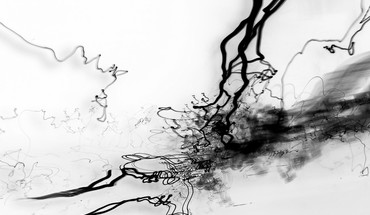 Abstract ink splashes HD wallpaper