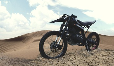 Clouds deserts motorbikes HD wallpaper