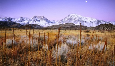 Moon mountains snow HD wallpaper