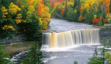 Falls michigan waterfalls HD wallpaper