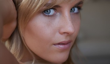 Marketa pechova blondes blue eyes closeup faces HD wallpaper