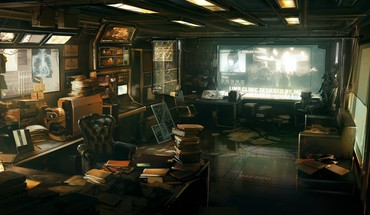 Deus ex human revolution artwork room HD wallpaper