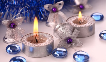 décorations de Noël cloches bougies GEMS glitter  HD wallpaper