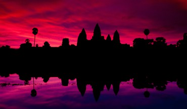 Angkor wat cambodia hinduism architecture lakes HD wallpaper
