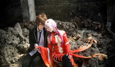 Funell guilty crown ouma shu yuzuriha inori cosplay HD wallpaper